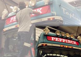 Belettering vrachtwagen Peppinck