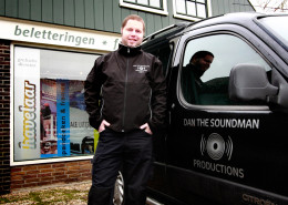 Belettering bestelwagen Dan the Soundman