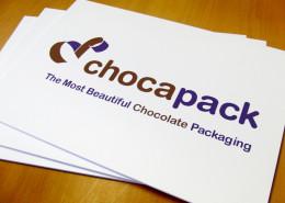 Belettering reclameborden Chocapack