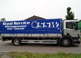 Belettering vrachtwagenzeil