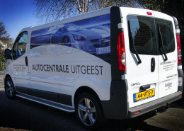 Belettering bestelwagen Autocentrale Uitgeest