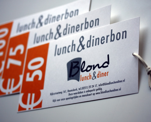 Kadobonnen Blond Lunch & Diner