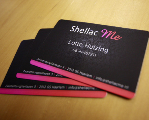 Visitekaartjes Shellac Me