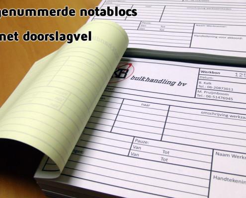 Notablocs met doorslagvel SKB
