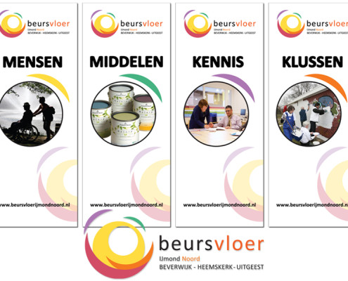 Roll up banners Beursvloer IJmond Noord