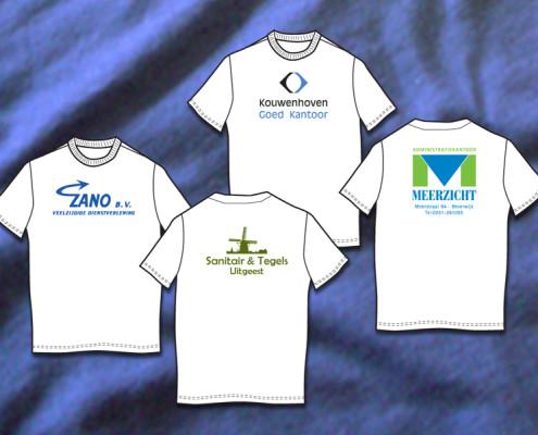 T-shirt met naamlogo bedrukt