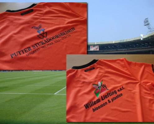 Voetbalshirts bedrukt met logo