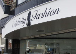 Belettering pand Celebrity Fashion