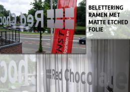 Belettering ramen Red Chocolate