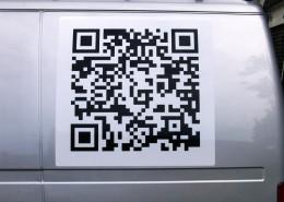 Qr code belettering sticker