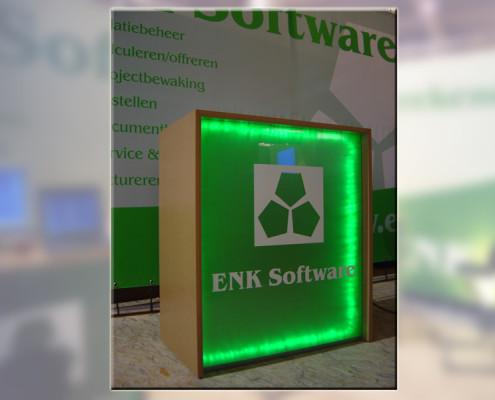 Verlichte balie beurs ENK software