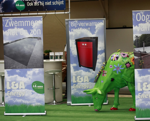 Beursstand roll up banners L&A Energy