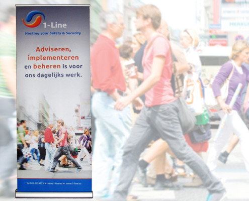 Roll up banners 1-Line Safety