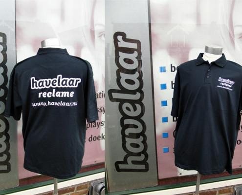 Poloshirts bedrukt met naamlogo