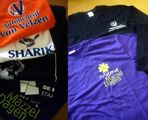 Verzameling t-shirts